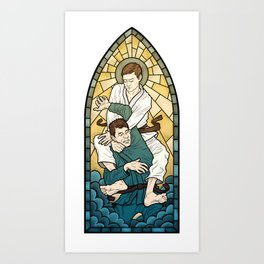 Stained Glass Strangle Art Print
