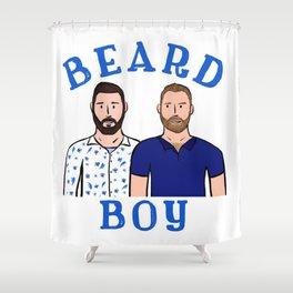 Beard Boy: Karl & Thomas Shower Curtain