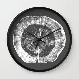 Tree Rings - Dark Gray Wall Clock