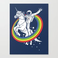 rainbow Canvas Prints featuring Epic Combo #23 by Jonah Makes Artstuff
