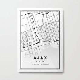 Ajax Light City Map Metal Print