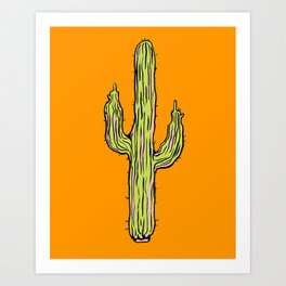 Hot Cacti Art Print
