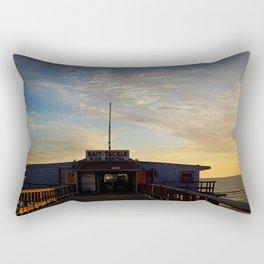 Sunset beyond the Tackle Shack Rectangular Pillow