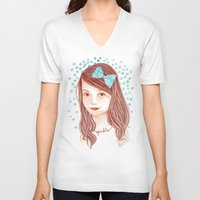 sparkle V-neck T-shirts featuring Sparkle by Cynthia Bauzon-Arre
