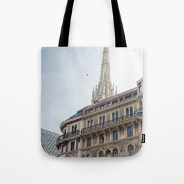 St stephen Cathedral Vienna Austria 2 sky bird Tote Bag