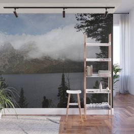 Snow Capped Mountains and Lake Wall Mural