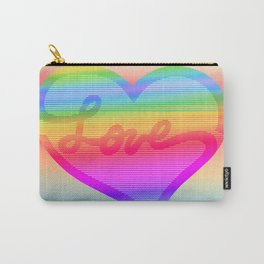 Prismatic Love Heart Carry-All Pouch
