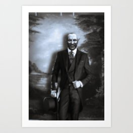 Schreck (Classic Black and White) Art Print