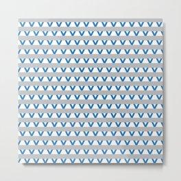 Paranoia (Grey and Turquoise) Metal Print