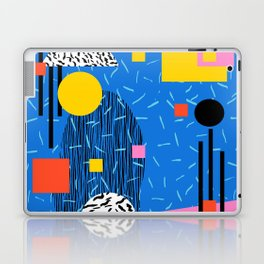 Crank - 80s retro throwback minimal abstract painting memphis style trendy vibes all day Laptop & iPad Skin