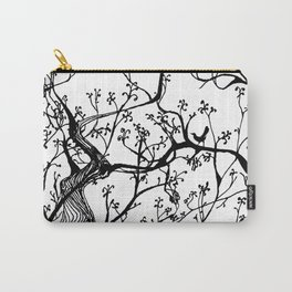 Lined Tree Carry-All Pouch