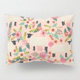 Sheep farm rescue sanctuary floral animal pattern nature lover vegan art Pillow Sham