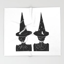 Two Witches Throw Blanket