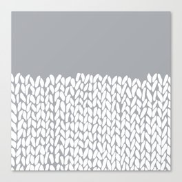 Half Knit Grey Canvas Print