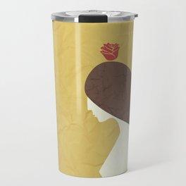 Mulher e Rosa Travel Mug