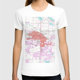 Vintage Map of Fort Collins Colorado (1960) T-shirt