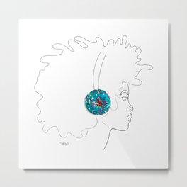 Donut Headphones Metal Print