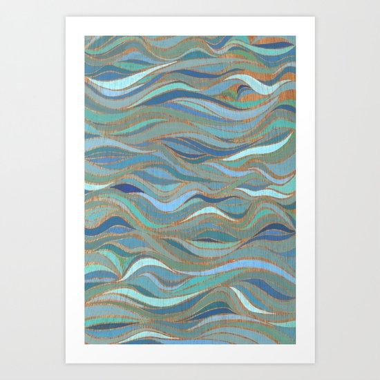 Wave lines 1 Art Print