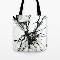 broken Tote Bags featuring Broken by Biba Kayewich