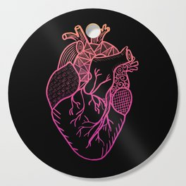 Designer Heart Colors Cutting Board