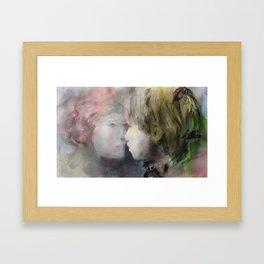 a kiss of love Framed Art Print