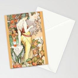 "Alphonse Mucha ""Cognac Bisquit"" Stationery Cards"