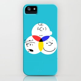 Charlie Brown, colour wheel iPhone Case