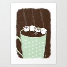 Chocolate Gas Art Print