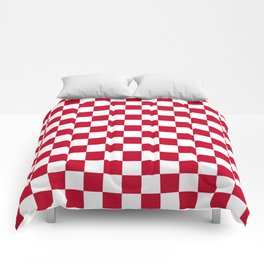 Red and White Check Comforters