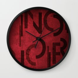 Pinot Noir Wine Typography Wall Clock