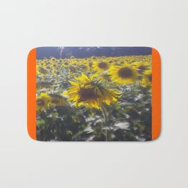 Butterfly and Sunflowers Bath Mat