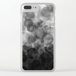 B&W Spotted1 - Reverse Clear iPhone Case