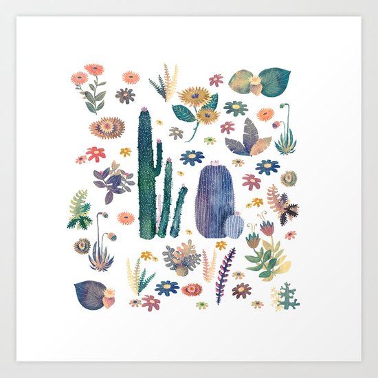 cactus king and Queen of the nature!! Art Print