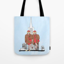 San Francisco's iconic Brown Twins Tote Bag