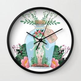 Miss Printemps Wall Clock