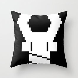 Snapping Claw - dark fabric Throw Pillow