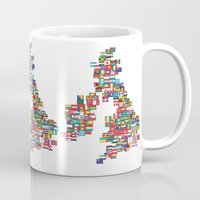 uk Mugs featuring UK by John Choi King
