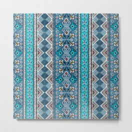 Grand Bazaar - Blue Metal Print