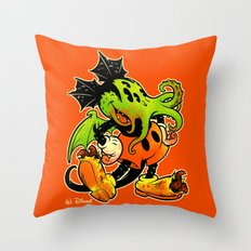 MICKTHULHU MOUSE (color) Throw Pillow