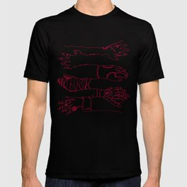 Classic Horror Hands (Red Line) T-shirt