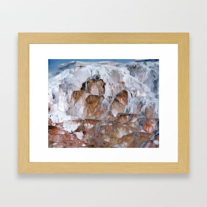 Mammoth Hot Springs Yellowstone Framed Art Print