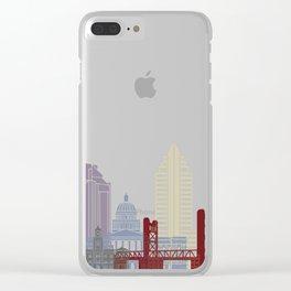 Sacramento skyline poster Clear iPhone Case