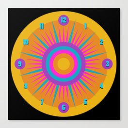 Mod Clock 9 Canvas Print