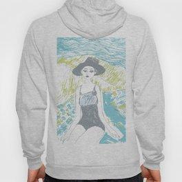 Woman on the beach 2 Hoody