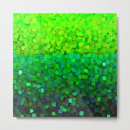 Glitter Sparkles Green Metal Print