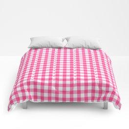 Gingham Print - Pink Comforters
