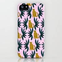 Cheetah and Leaves Slim Case iPhone (5, 5s)
