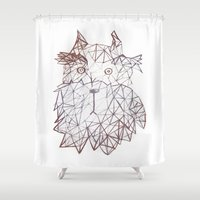 schnauzer Shower Curtains featuring schnauzer  by monicamarcov