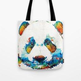 Colorful Panda Bear Art By Sharon Cummings Tote Bag
