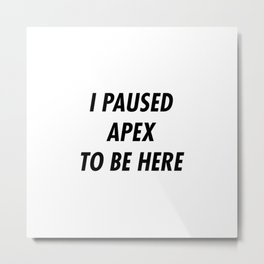APex Legend Metal Print